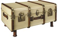 Stateroom Trunk Table, Ivory - Traditional - Coffee Tables ...