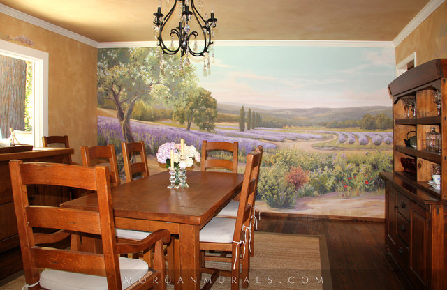 Handpainted Wall Mural Lavender Fields of Southern