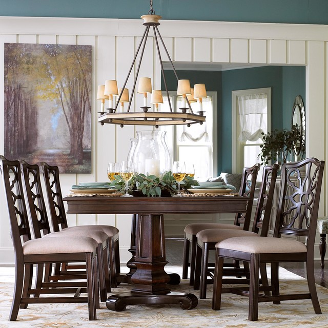 Moultrie Park Double Pedestal Dining Table by Bassett Furniture  Contemporary  Dining Tables