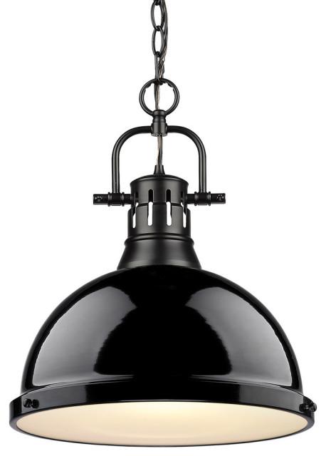 1 light pendant with chain 3602 l blk bk
