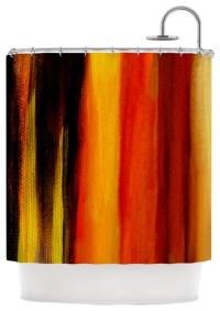 Yellow And Orange Shower Curtains | Curtain Menzilperde.Net