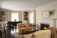 Greek Revival Remodel - Living Room - Traditional - Living ...