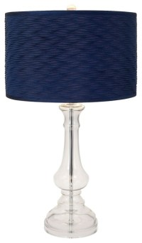 Nautical Navy Blue Glass Lamp - Transitional - Table Lamps ...