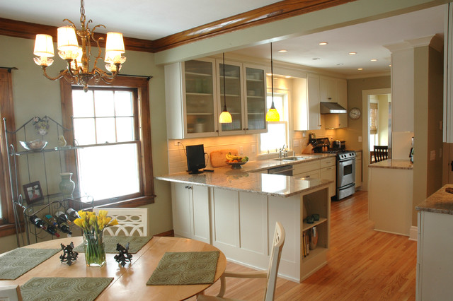 An Open KitchenDining Room Design in a Traditional Home