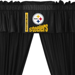 Kitchen Cabinets Pittsburgh Change Cupboard Doors Nfl Steelers 5-piece Curtains And Valance Set ...