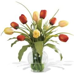 Tulip Dining Room Chairs Outdoor Pub Height Mixed Silk Flower Arrangement - Contemporary Artificial Arrangements By Petals