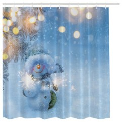 Houzz Living Rooms With Sectionals Room Computer Desk Blue Snowman In Winter Wonderland Christmas Holiday Shower ...