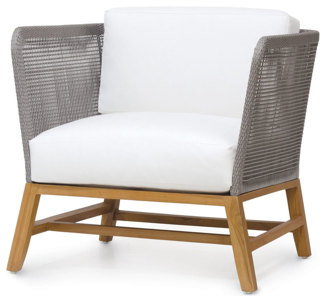 lounge outdoor chairs office chair replacement parts serena modern gray rope woven teak salt midcentury by kathy kuo home