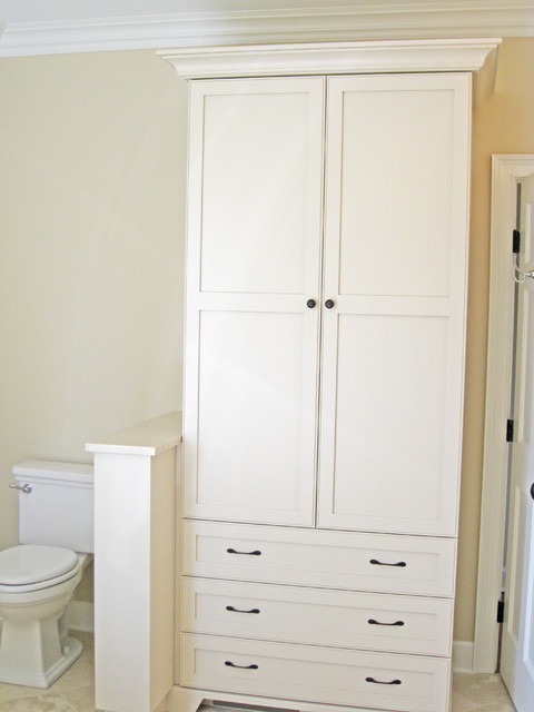 bathroom linen cabinet - traditional - charleston - by sea island
