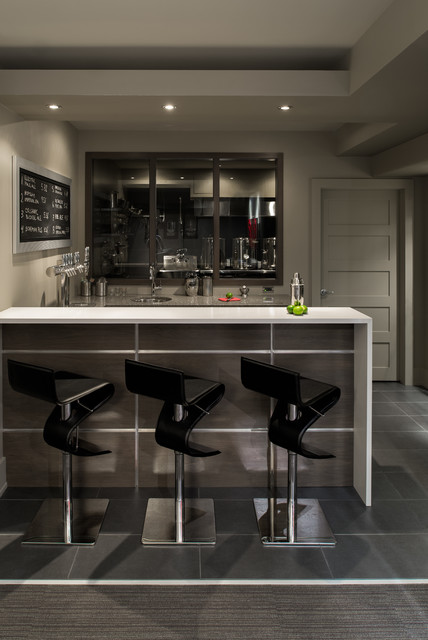 Basement Bar and Brewery  Contemporary  Home Bar  Ottawa  by Just Basements