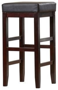 """Comfortable Wooden Bar Stool 30"""" - Contemporary - Bar ..."""