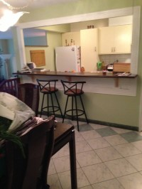 Entry into condo, open window kitchen - how to make sight ...