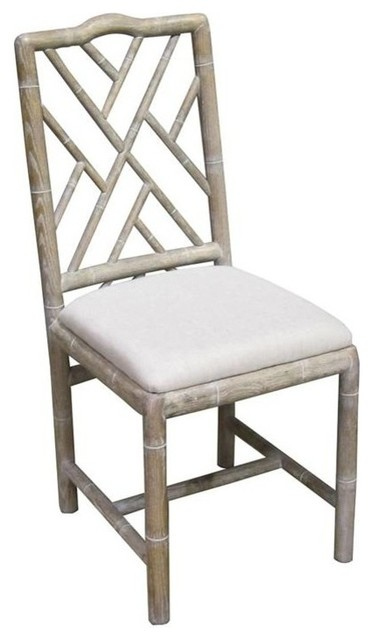 bamboo dining chair blue living room brighton side whitewash set of 2 farmhouse chairs by bseid