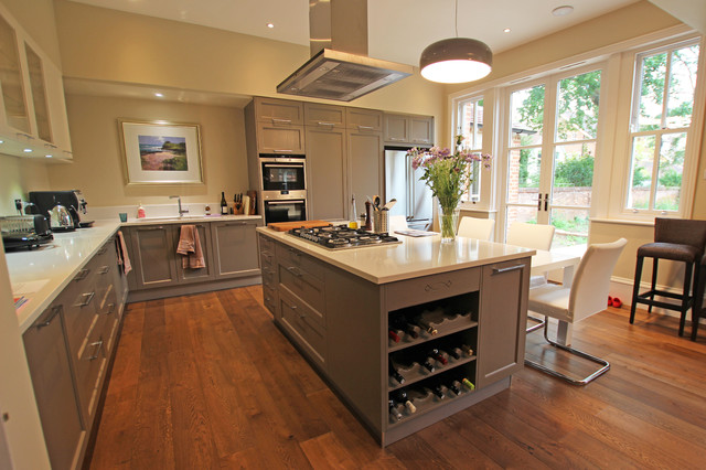 Grey Country Kitchen Island Farmhouse Kitchen London By LWK