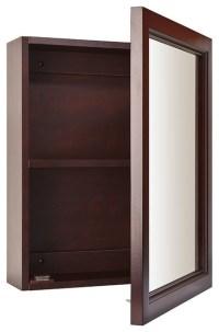 "Sheridan 15""x19"" Surface Mount Espresso Medicine Cabinet"
