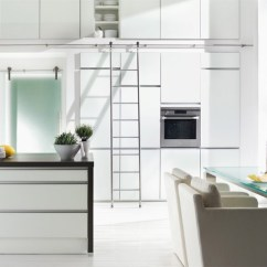 Rolling Island Kitchen Hotels In Nyc With Kitchens Mwe - Sliding Ladders Auto-stop Function Modern ...