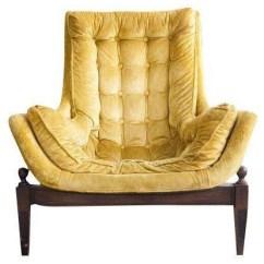 Tufted Yellow Chair Wedding Cover Hire Redditch Mid Century Velvet Bucket Home Design Jpg