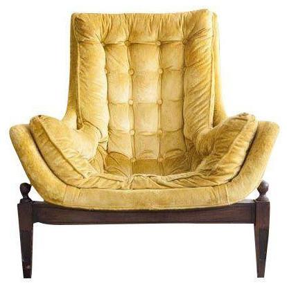 velvet tufted chair organza wedding covers mid century yellow bucket home design jpg
