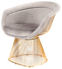 Statements by J - Lulu Lounge Chair, Gold - View in Your ...