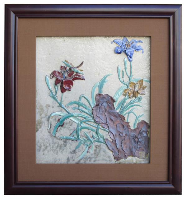 chinese ceramic dimensional flower