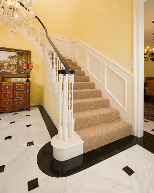 Marble Foyer  Traditional  Staircase  Dallas  by