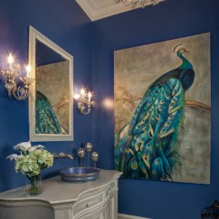 Navy Blue And Gray Living Room Ideas Paint For A Small Creighton Farm South Powder - Traditional Bathroom ...