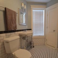 Round Glass Kitchen Tables Home And Garden Designs Retro. Craftsman Style Subway Bathroom