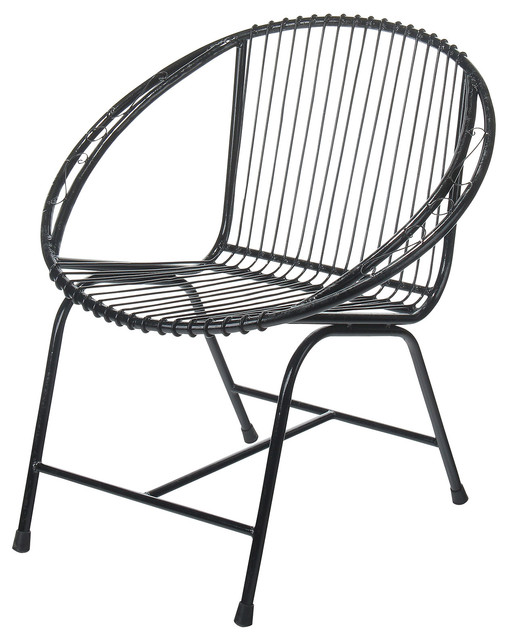 outdoor wire chairs power chair lift veranda metal black filigree transitional lounge by joseph allen home
