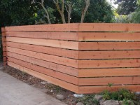 Horizontal Redwood Fence 1