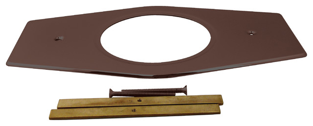 one hole remodel plate for moen and delta in oil rubbed bronze