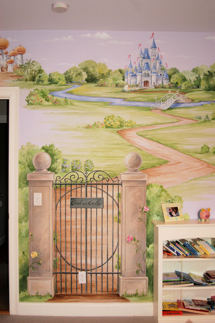 Princess Castle Mural  Traditional  Bedroom  Boston  by MacMurrayDesigns