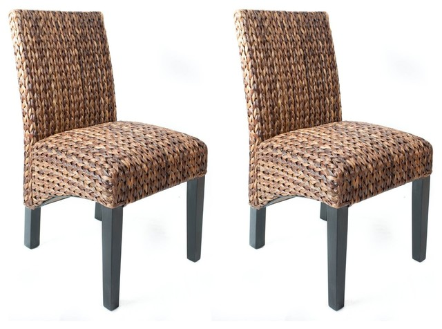 Seagrass Side Chairs, Set Of 2