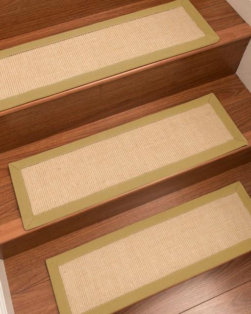 Deco Custom Sisal Stair Treads 9 X 29 Contemporary Stair | Sisal Carpet Stair Treads | Area Rugs | Fiber Sisal | Natural Fiber | Etsy | Oak Valley