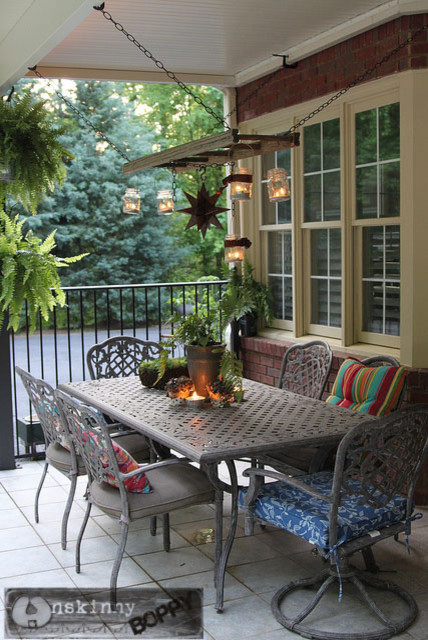 Hanging Ladder Lantern Chandelier For The Patio Traditional