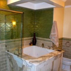 Large Kitchen Window Treatments Throw Rugs Washable Master Bathroom With Japanese Soaking Tub - Asian ...