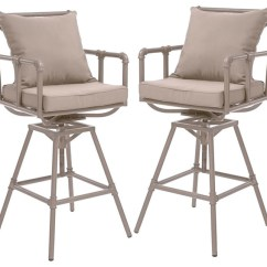 Outdoor Bar Chairs Dining Room Chair Covers Pinterest Tallahassee Adjustable Height Swivel Stools Set Of 2