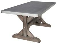 SDS Designs Zinc Farm Trestle Table - Dining Tables | Houzz