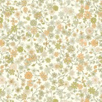 Wandering Floral - Peach Wall Mural - Contemporary - Wallpaper