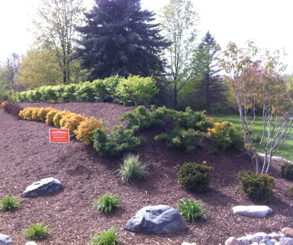 landscape berm in brighton michigan