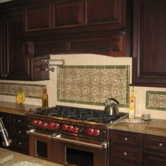 Under Kitchen Cabinet Lights Gray Wash Cabinets Cherry Raised Panel Cabinetry With Traditional Wood Hood ...