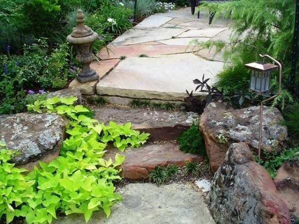 boulder steps - traditional landscape