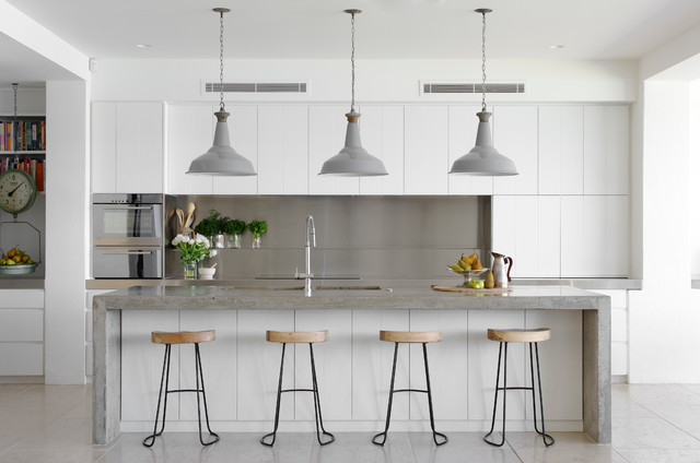 white kitchen bench floor tile designs benchtop cost material guide houzz how much does a