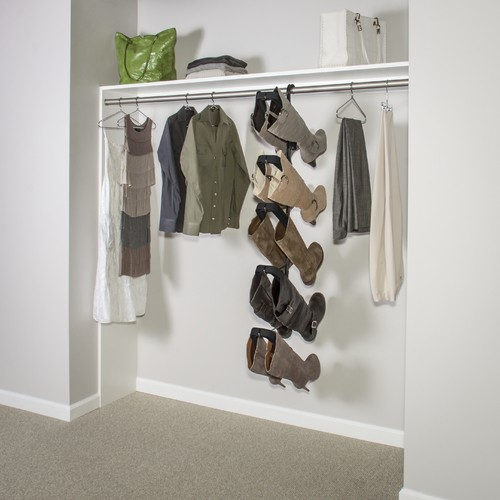 Boot Butler Boot Rack - Hanging from standard long hang rod