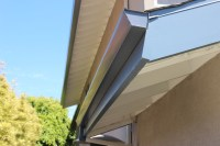 Contemporary Rain Gutters in Huntington Beach CA. Smooth