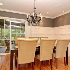 Simple Tv Panel Design For Living Room Decor Walls Formal Dining Grey/gray And White Wainscot ...
