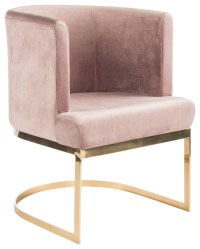 Hazel Dining Chair, Blush Pink and Gold - Contemporary ...
