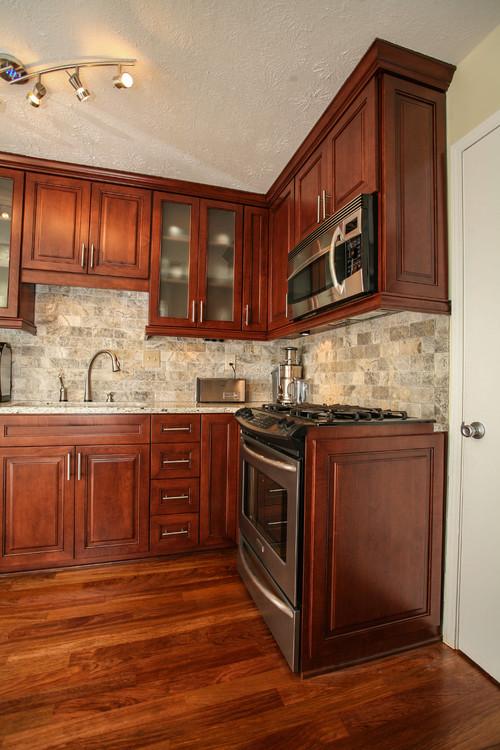 Full Oak Stave Kitchen Units Natural Color For Amazing Decor Ideas