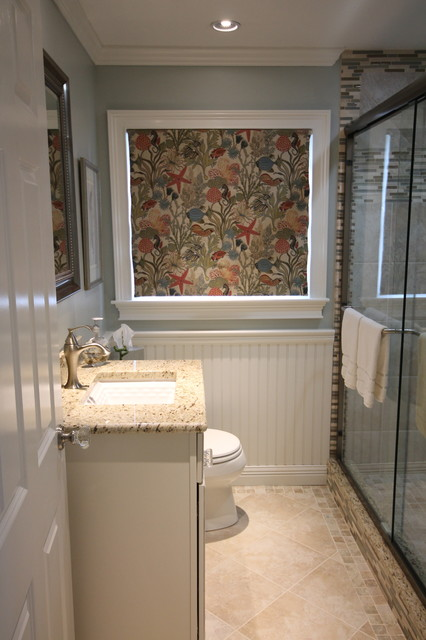 Cape Cod Cottage bathroom  Beach Style  Bathroom  Boston  by Paramount Rug Company