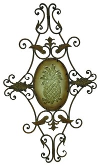 Decorative Pineapple Metal Scroll Work Wall Art Sculpture ...