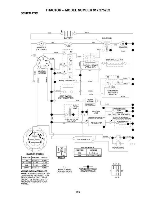 Craftsman Model 917 270923 Ignition Switch Wiring Diagram